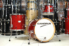 Canopus Yaiba 3pc Bop Kit Dark Red Sparkle Lacquer - JSM-M18-DRSL