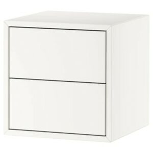 Brand New IKEA EKET 2 Drawer Push Cabinet Storage Organizer White 304.289.15
