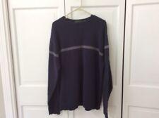 Timberland Crew Neck Sweater Blue Striped Mens Size XL 100% Cotton