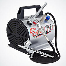 High Performance Airbrush System Dual-Action Gun & Air Compressor Hose & Filter