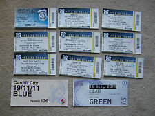 unused ticket + stub directors box  cardiff v bristol city 16/10/10