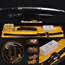 Japanese Classical Polishing Samurai Katana Sword Clay Tempered Blade Very Sharp