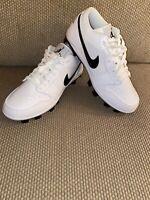 Nike Jordan 1 Retro MCS Low Baseball Cleats White Black CJ8524-100 Men's Sz 11