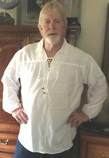 NEW Jack Sparrow Renaissance Peasant Pirate Artist Poet Costume Shirt Large NEW