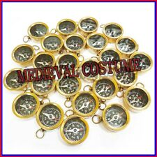 Necklace Style Lot of 50 Shinny Brass Working Compass