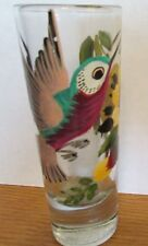 "ENSENADA  BEAUTIFUL HAND PAINTED   4"" SHOT GLASS WITH HUMMINGBIRD & FLOWER"