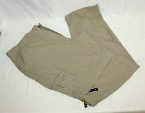 Magellan Outdoor Fish Gear Men's Pants Size Large Mag Repel Khaki Cargo EUC