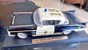 Road Legends 1958 Cadillac El Dorado Seville Police Chief Scale Die Cast