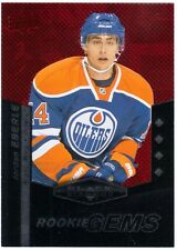 JORDAN EBERLE 2010-11 Black Diamond Quadruple Ruby /100 Rookie Gems Card #220