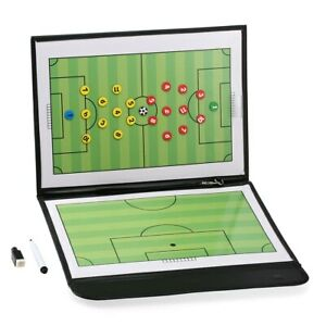 Foldable Football Soccer Magnetic Tactic Board Coaching Strategy With Marker C0