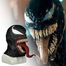 Protector de la película cos fatal Horror Halloween Rave Fiesta Venom Headgear pieza facial