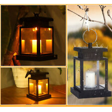 2x Solar LED Candle Lantern Tea Light Outdoor Garden Hanging Lamp Home Decor