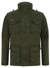 SUPERDRY MEN'S CLASSIC ROOKIE 4 POCKET JACKET IN KHAKI (M5000011A S6Y)