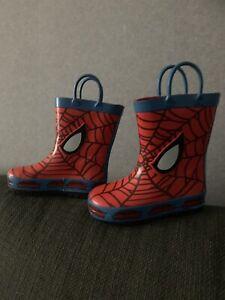 Spiderman Wellies Size UK 6 EUR 23 Wellies Infant Used Unwanted Walks Rain