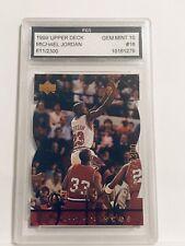 1998 Upper Deck MJX Michael Jordan MJ Timepieces #16 # 611/2300 FGS GEM MINT 10