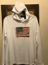 Polo Ralph Lauren Americana US Flag Eagle white pullover L/S hoodie shirt XL NWT