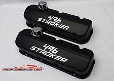 Big Block Chevy 496 Stroker Die Cast Aluminum Black Powder Coat Valve Covers