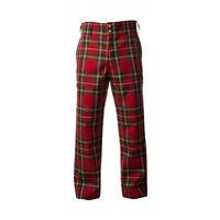 Nuovo Formale Pantaloni da Golf Uomo Cotone Scozzese Hostess Royal- Varie Taglie