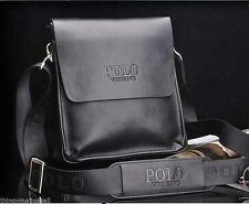 Vera Pelle Sintetica POLO videng MEN'S Crossbody spalla Messenger Bag Manbag