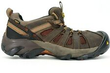 Keen Mens Brown Flint Low Leather Outdoor Steel Toe Work Shoes US 10.5 EE EU 44