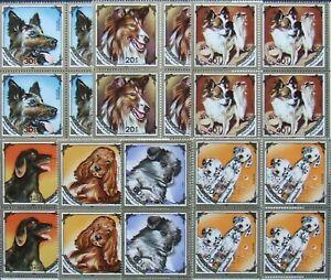 Mongolia,Dogs,4x7 stamps, MNH,. MG 052