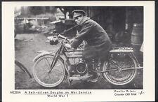 Motor Cycle Postcard - A Belt-Driven Douglas Bike on WW1 Service - Pamlin A2947