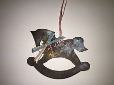 Aged Metal Rocking Horse Christmas Ornament From Katherine's Collection