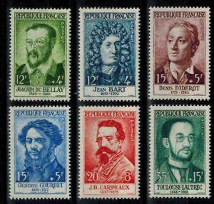 (a24) timbres France n° 1166/1171 neufs** année 1958