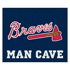 Atlanta Braves Man Cave 5' X 6' Tailgater Area Rug Floor Mat