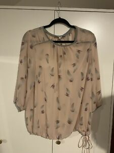 NEXT NUDE FEATHER PATTERNED BLOUSE SIZE 16