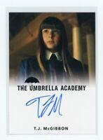 2020 The Umbrella Academy T.J. McGibbon as Young Vanya FB Auto Autograph Card