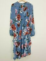 [ PORTMANS ] Womens Floral Print Long Sleeve Midi Dress  | Size AU 8 or US 4