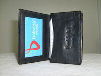 Genuine Leather Expandable ID, Credit Cards & Business Cards Holder Wallet