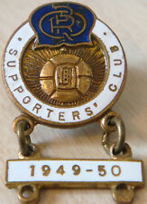 QUEENS PARK RANGERS Vintage SUPPORTERS CLUB badge 1949-50 bar 21mm x 22mm