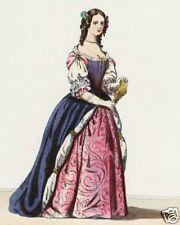 Antique Costume Dress Design Illustration 18 Books ~DVD