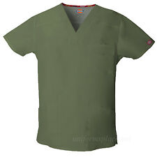 Dickies Scrubs Top Mens EDS V-neck Shirts Multi Pockets 81906 Medical Uniforms