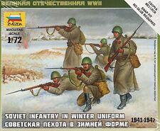 Zvezda 1/72 figures soviet infantry in winter uniform 1941-1942 Z6197
