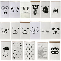 Cute Design Recycle Heavy Kraft Paper Storage Bags Laundry Bag Toys Clothes Bags