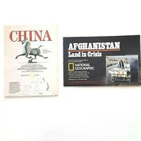 National Geographic Asian Foldout Maps of Afghanistan and China