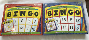 Carson Dellosa Subtraction & Addition Bingo Games NEW!