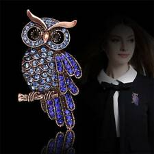 Women Ladies Owl Brooch Pin Broach Crystal Rhinestones Jewelry Party Decor Gift