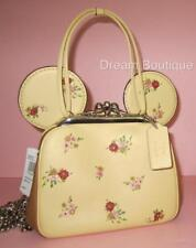 Coach Disney X Minnie Mouse Kisslock Ear Handbag Floral Vanilla NWT $395