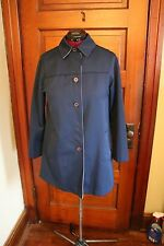 Ladies Womans Genuine Vintage Forecaster International Coat Navy Blue Size 9/10