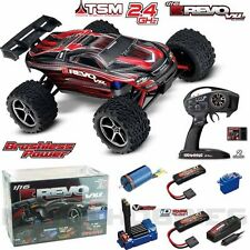 Traxxas 1/16 E Revo VXL Brushless Truck Red RTR w/ TQi/ TSM / 2X iD Battery