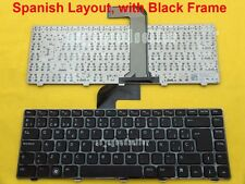 NEW For Dell Inspiron 14 3420 15 3520 Keyboard Spanish Teclado Black Frame Black