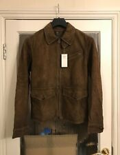 Designer Polo Ralph Lauren Sanford Newsboy Jacket Light Brown Suede Size M