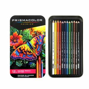 Sanford Prismacolor Premier Colored Pencils, Soft Core, 12 Pack