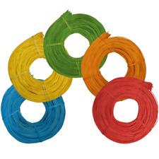 Peddigrohr gefärbt 500g (39,98€/kg) Blau Gelb Grün Orange Rot Ø 2,25 & 3,0mm
