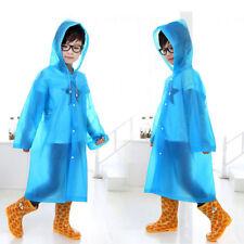 Enfants Garçon Fille Veste De Pluie Capuche Long Poncho Imperméable Transparent