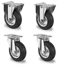 4 Stück Transportrollen lenkbar 100mm Gummibereifung